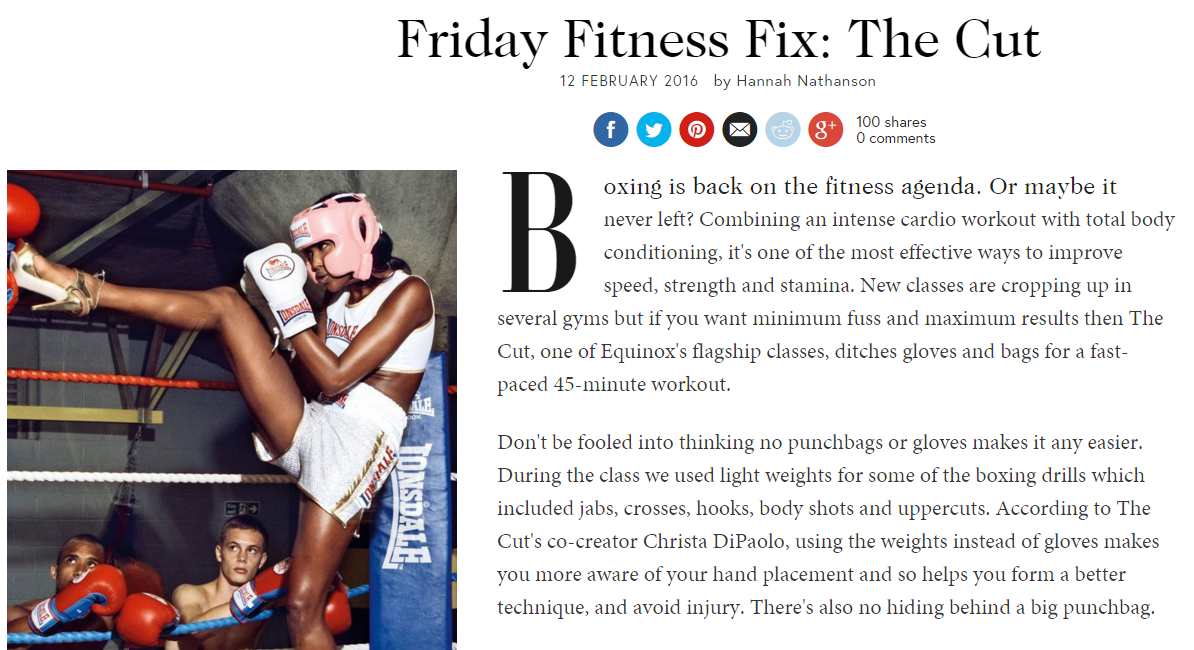 British Vogue – THE CUT Class Review
